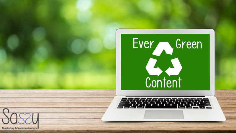 a laptop content Evergreen blog on it