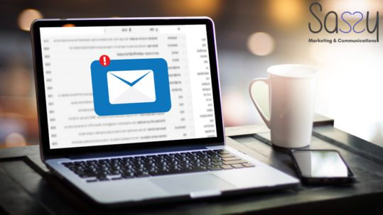 Building and Email List for a digital marketing from a laptop